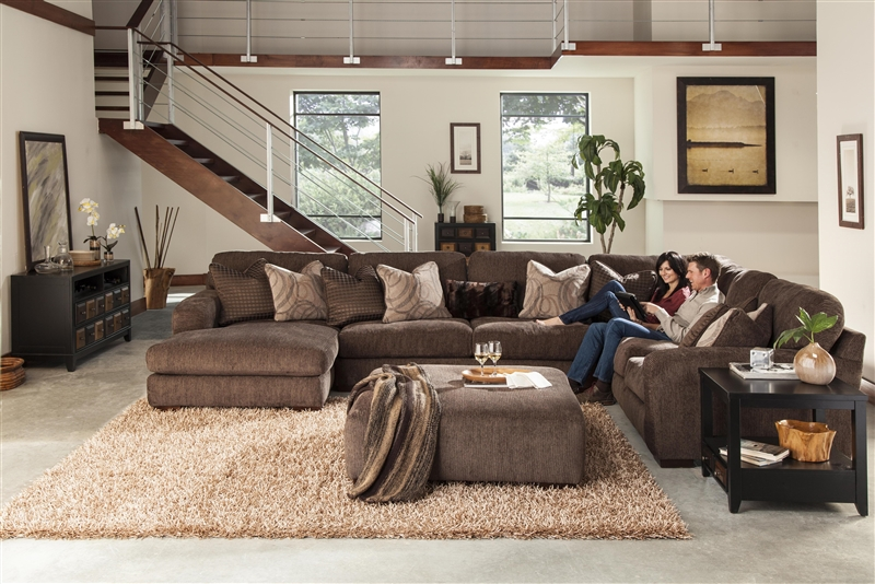 Serena 4 Piece Sectional In Plum, Oyster, Or Truffle Chenille By Jackson  Furniture   3276 SEC 04