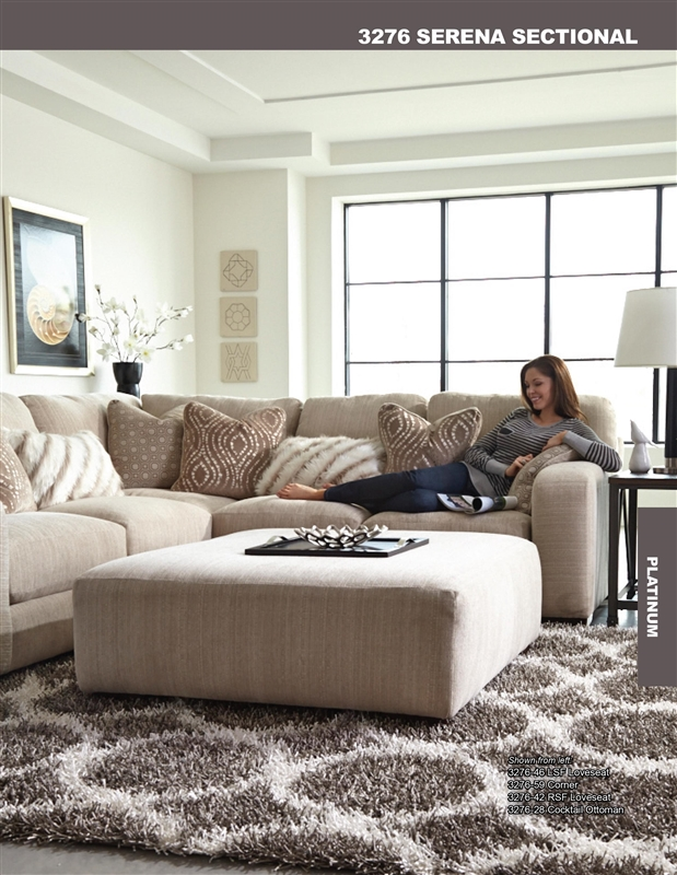 Serena 2 Piece Sectional In Plum, Oyster, Or Truffle Chenille By Jackson  Furniture   3276 SEC 2