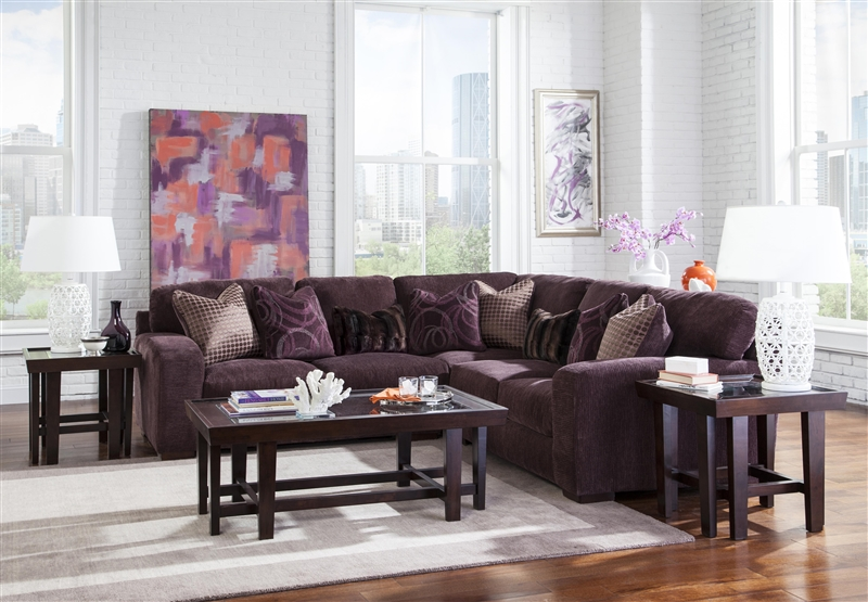 Serena 3 Piece Sectional in Plum Chenille by Jackson Furniture - 3276-SEC-P