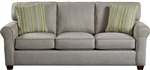 Zachary Sofa Queen Sleeper in Cement, Mahogany, or Wheat Fabric by Jackson - 3278-04