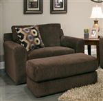"Sutton Oversized Chair in ""Chocolate"" Chenille by Jackson - 3289-01-CH"
