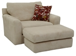 "Sutton Oversized Chair in ""Doe"" Chenille by Jackson - 3289-01-D"