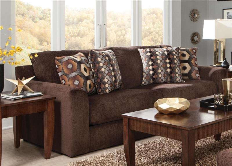 Sutton Queen Sleeper Sofa In Chocolate Chenille By Jackson 3289 04 Ch