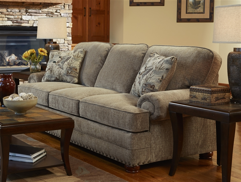 Ordinaire Homestead Sofa In Mocha Fabric With Camo Pillows By Jackson Furniture    3293 03