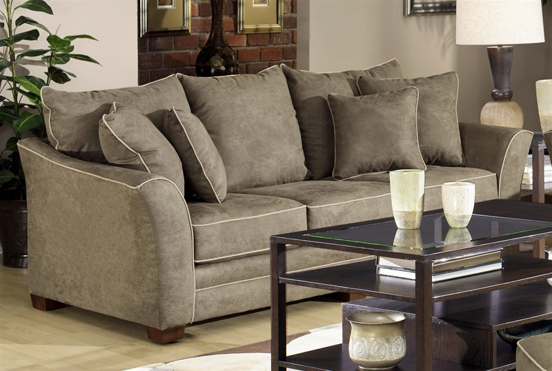 Bentley Sofa In Olive Fabric By Jackson