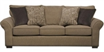 Maddox Queen Sleeper Sofa in Fudge Fabric by Jackson Furniture - 4152-04-F