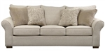 Maddox Queen Sleeper Sofa in Stone Fabric by Jackson Furniture - 4152-04-S