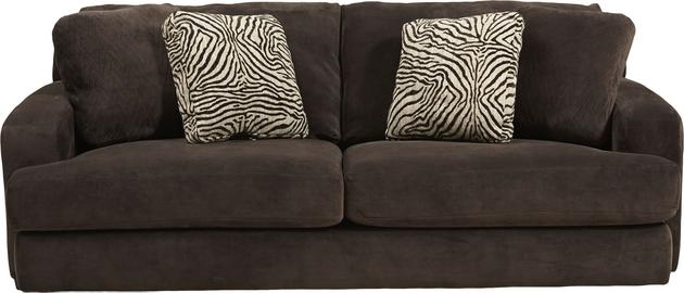 Elegant Palisades Sofa In Chocolate Color Fabric By Jackson Furniture   4186 03 CH