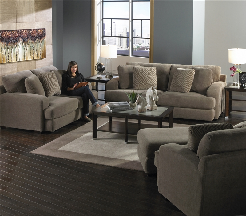 Sofa Set In Porcini Color Fabric