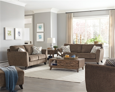 Alyssa 2 Piece Living Room Set in Latte Fabric by Jackson Furniture - 4215-L