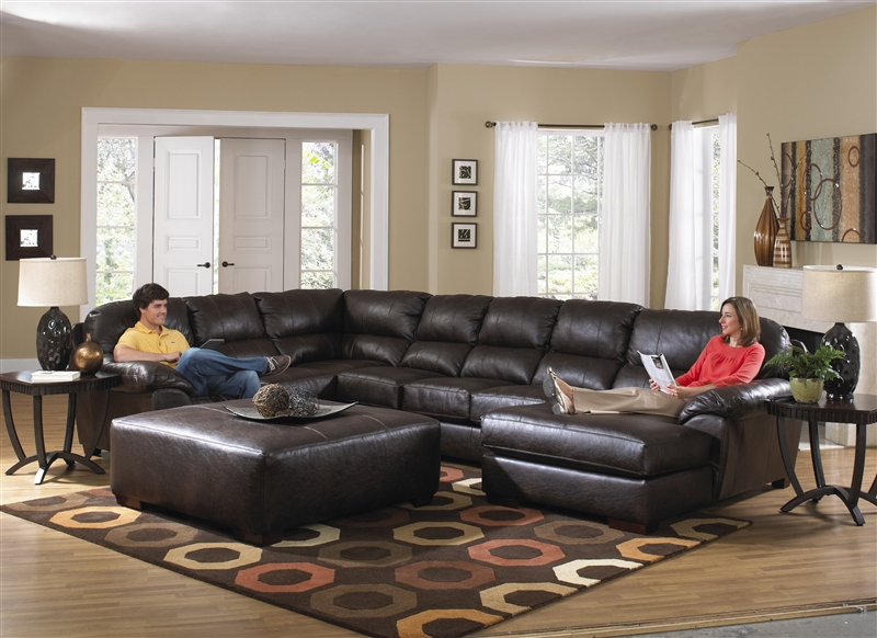 Lawson 3 Piece Leather Sectional By Jackson 4243