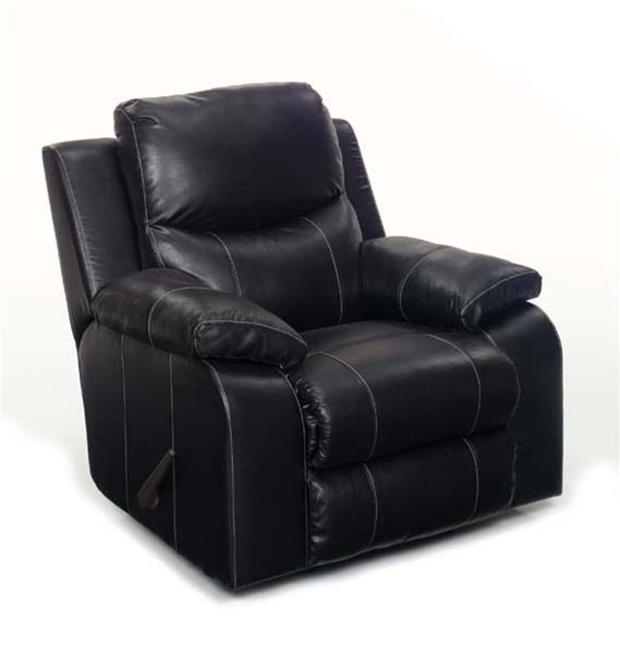 Outstanding Jetson Rocker Recliner In Black Leather By Jackson Furniture 4246 11 Beatyapartments Chair Design Images Beatyapartmentscom