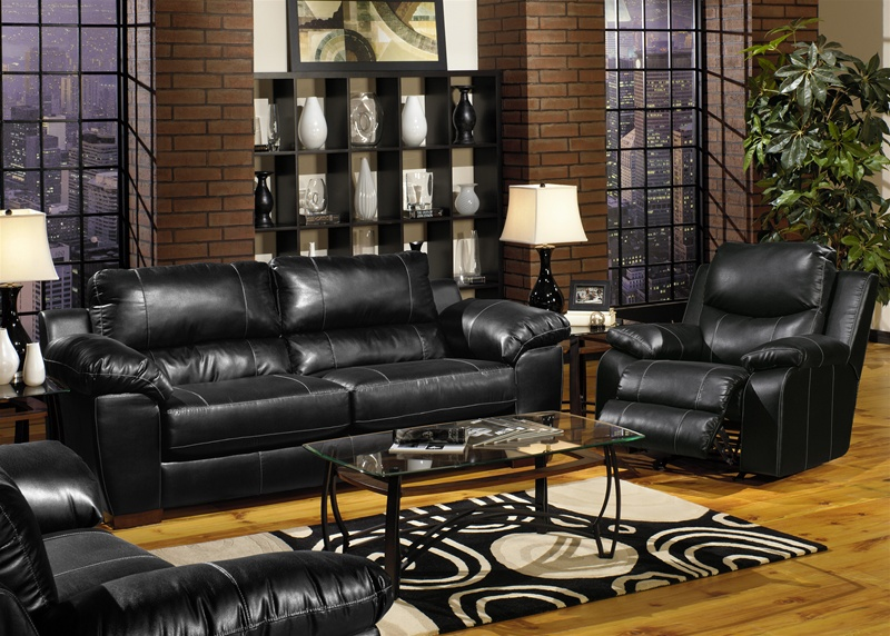 Sensational Jetson 2 Piece Sofa Loveseat Set In Black Leather By Jackson Furniture 4246 S Beatyapartments Chair Design Images Beatyapartmentscom
