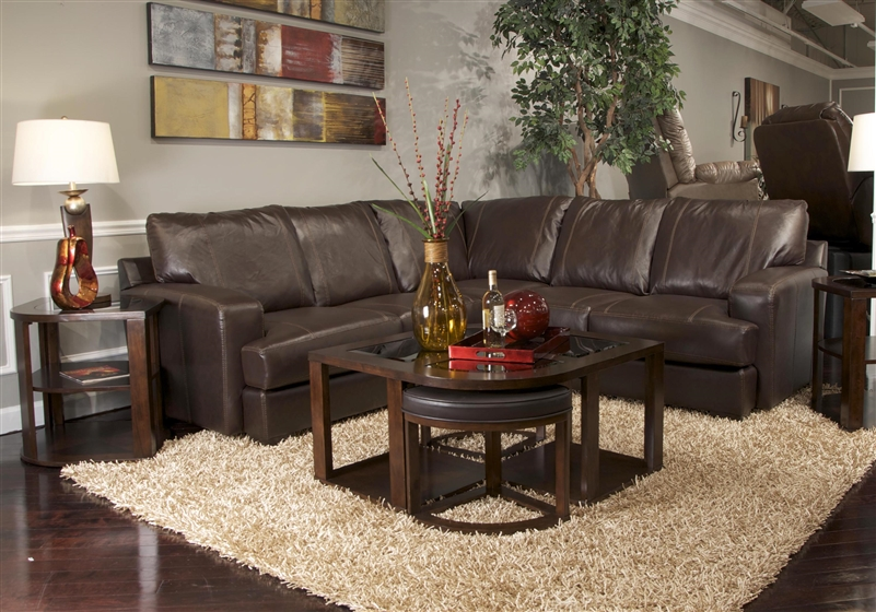 Cool Barrington 2 Piece Mahogany Leather Sectional By Jackson Furniture 4265 M L Pabps2019 Chair Design Images Pabps2019Com
