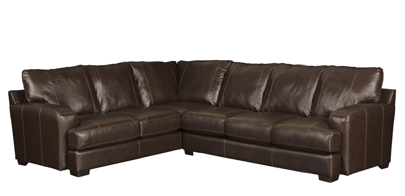 Barrington 2 Piece Mahogany Leather Sectional By Jackson