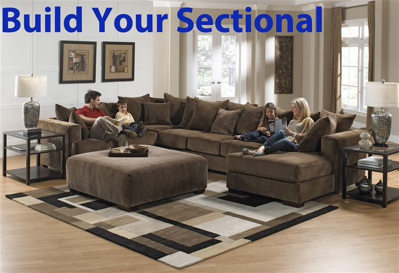 Ferguson build your own sectional in chocolate fabric by for Build your own house price