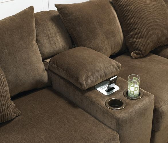 Ferguson 3 Piece Sectional In Chocolate Fabric By Jackson 4305 3