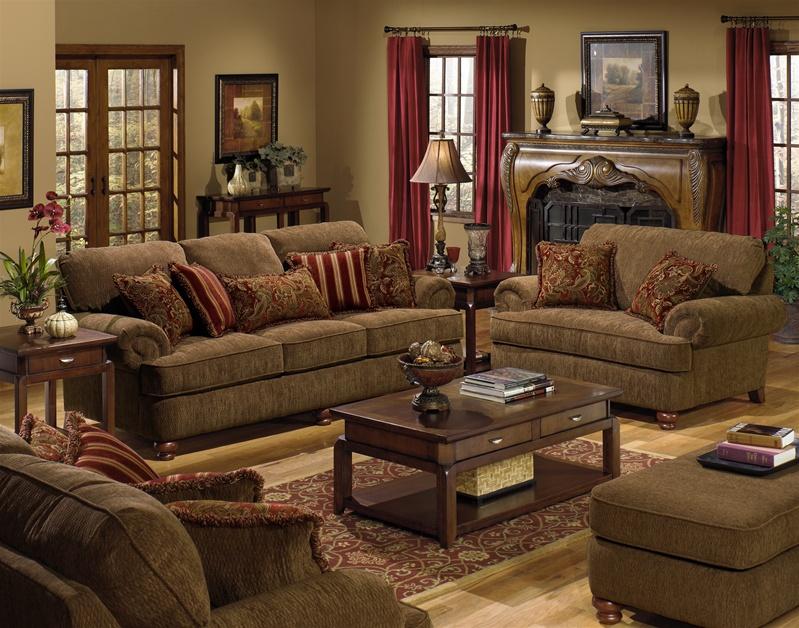 Belmont 2 Piece Set In Umber Chenille By Jackson Furniture 4347 U