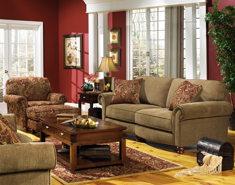Bradley 2 Piece Sofa Set In Havanna Chenille By Jackson Furniture 4352 S