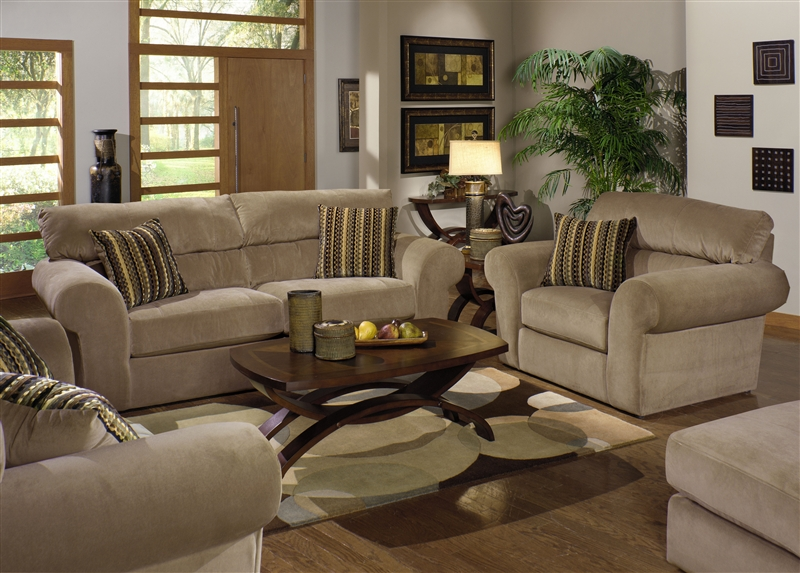 Mesa 2 Piece Sofa Sleeper Loveseat Set In Quot Tan Quot Fabric By