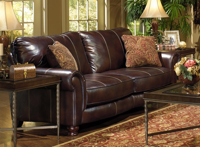 Oxford Loveseat In Cognac Fabric By