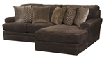 Mammoth 2 Piece Sectional in Chocolate Fabric by Jackson Furniture - 4376-02C-CH