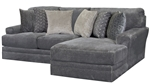 Mammoth 2 Piece Sectional in Smoke Fabric by Jackson Furniture - 4376-02C-S