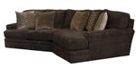 Mammoth 2 Piece Sectional in Chocolate Fabric by Jackson Furniture - 4376-02P-CH