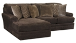 Mammoth 2 Piece Sectional in Chocolate Fabric by Jackson Furniture - 4376-2C-CH