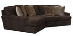 Mammoth 2 Piece Sectional in Chocolate Fabric by Jackson Furniture - 4376-2P-CH