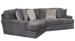 Mammoth 2 Piece Sectional in Smoke Fabric by Jackson Furniture - 4376-2P-S