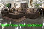 Mammoth Chocolate Fabric BUILD YOUR OWN Sectional Jackson Furniture - 4376-CH