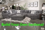 Mammoth Smoke Fabric BUILD YOUR OWN Sectional Jackson Furniture - 4376-S