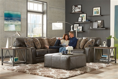 Denali 2 Piece Sectional in Steel Leather by Jackson Furniture - 4378-02L-S