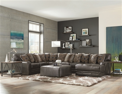 Denali 3 Piece Sectional in Steel Leather by Jackson Furniture - 4378-3C-S