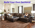 Denali Chocolate Leather BUILD YOUR OWN Sectional Jackson Furniture - 4378-BYO-CH
