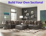 Denali Steel Leather BUILD YOUR OWN Sectional Jackson Furniture - 4378-BYO-S