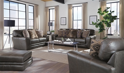 Denali 2 Piece Living Room Set in Steel Leather by Jackson Furniture - 4378-S