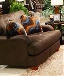 Hartwell Chair in Chocolate Color Fabric by Jackson - 4379-01-CH