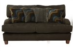 Hartwell Loveseat in Chocolate Color Fabric by Jackson - 4379-02-CH