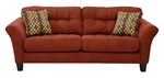 Halle Sofa in Algerian Red Color Fabric by Jackson - 4381-03-A