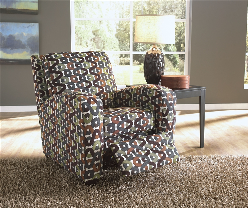 Halle Accent Reclining Chair In Gemstone Pattern Basil
