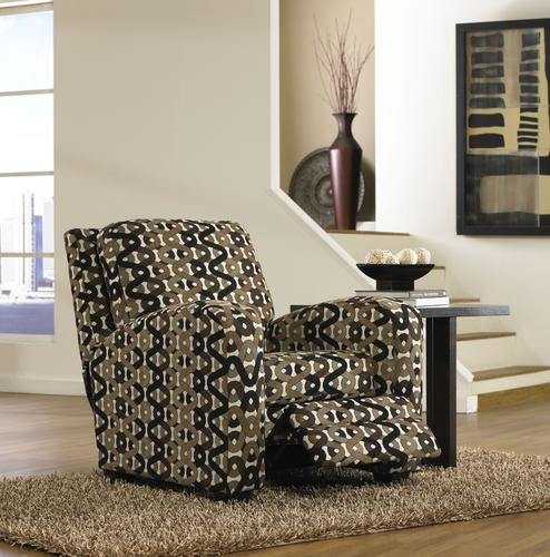 Halle Accent Reclining Chair in Sahara Pattern Doe Natural by