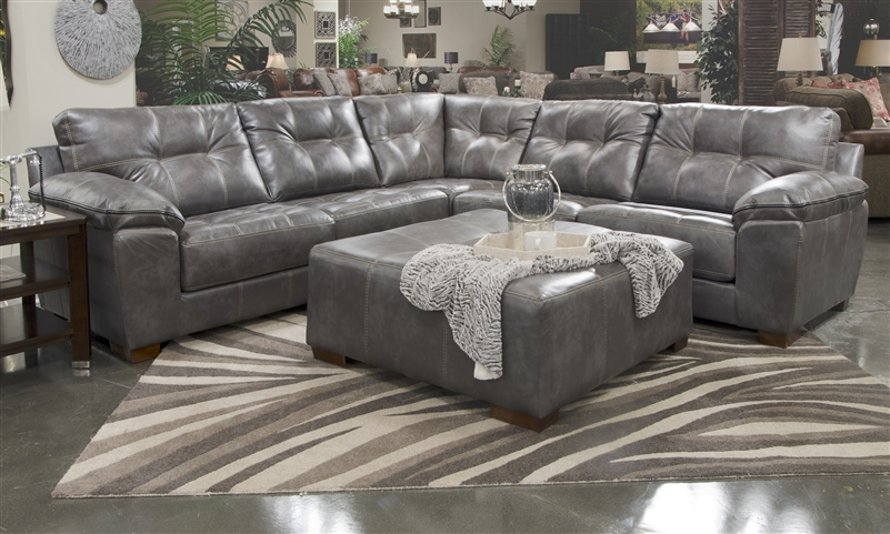 Hudson 3 Piece Sectional In Chocolate Fabric By Jackson Furniture 4396 Sec Ch