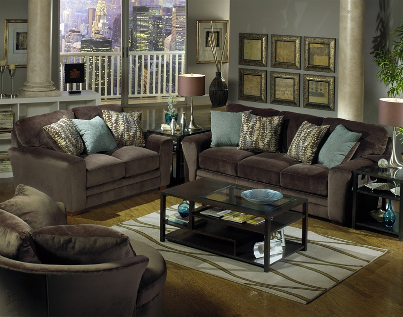 Whitney Swivel Chair in Chocolate Fabric by Jackson - 4397-66