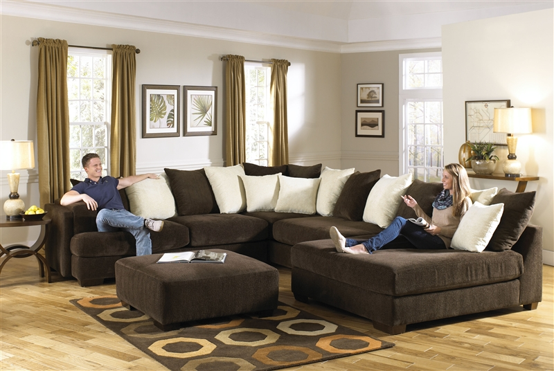Axis Sectional In Chocolate Chenille Fabric By Jackson Furniture