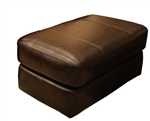 Brantley Ottoman in Java Leather by Jackson Furniture - 4430-10