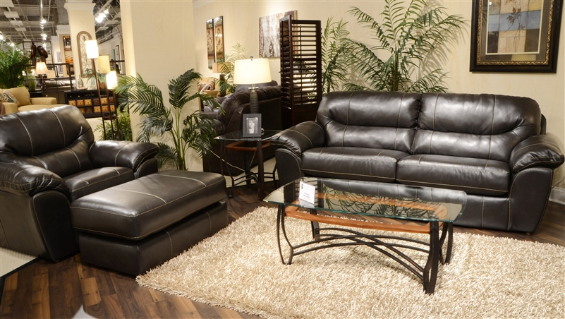 Brantley 2 Piece Leather Sofa Sleeper Loveseat Set By Jackson Furniture 4430 Ss