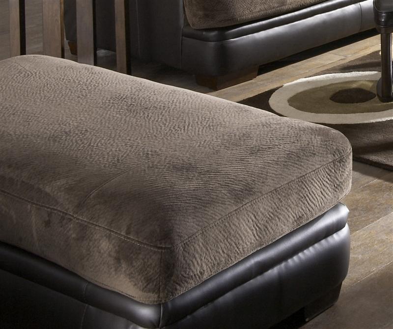 - Barkley Ottoman In Chocolate Fabric By Jackson Furniture - 4442-10-CH