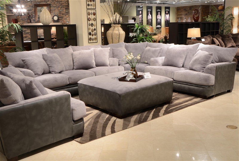 Incroyable Barkley 3 Piece Sectional In Grey Fabric By Jackson Furniture   4442 SEC G